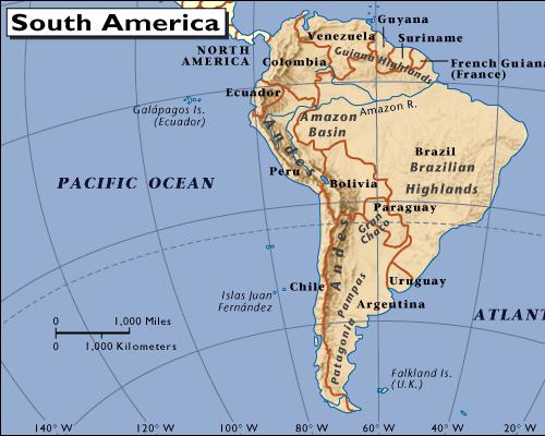 Südamerika mit Ecuador und Galapagos