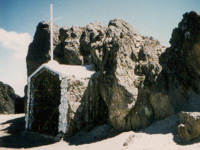 Die Kapelle auf dem Guagua für die Opfer der Vulkanausbrüche